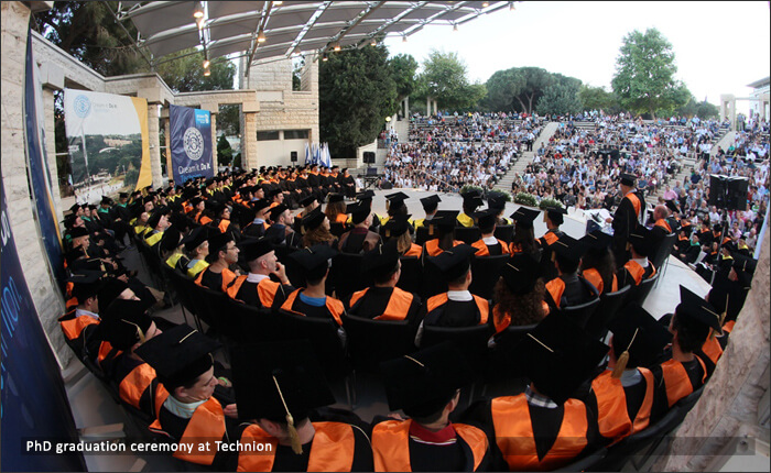 PhD graduation ceremony at Technion